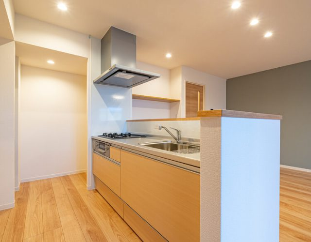 キッチン 使いやすさを追求したスライド収納キッチン